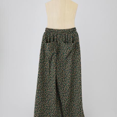 leopard cutsaw pants ベージュ  LLサイズ