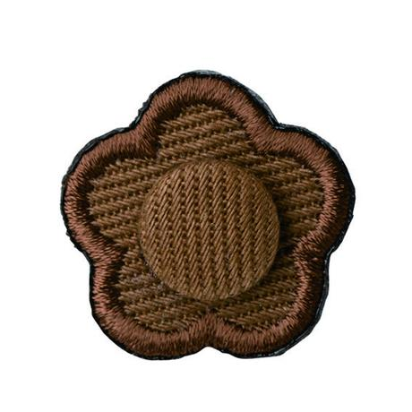 FT04080402 / EMBROIDERY BOUTONNIERE TWILL-  drip coffee-