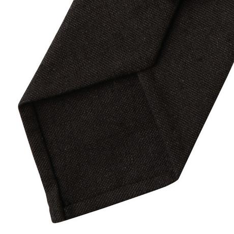 FT04050301 / COTTON LINEN TIE-espresso coffee-