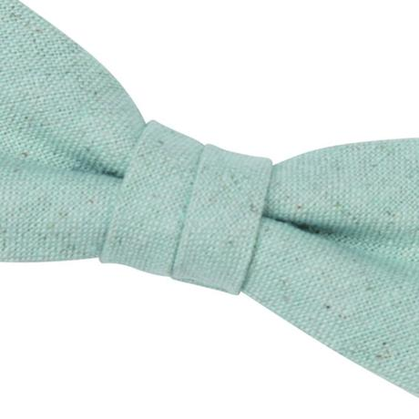 FT04070308 / COTTON LINEN KIDS BOW-blue mallow-
