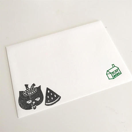 【Mr.PINK】CAT MESSAGE CARD(house)/ メッセージカード(ハウス)