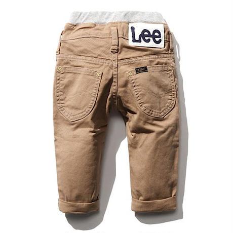 【Lee Baby】 RIB STRETCH TAPERED(BEIGE)/ベーシックリブストレッチテーパード(ベージュ)80〜100size