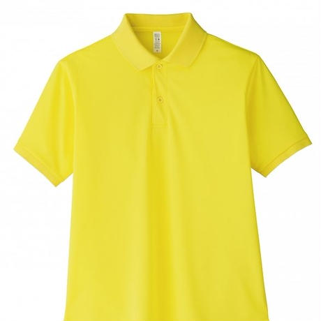 【Natural Smile】UNISEX POLO SHIRT(Yellow)/ポロシャツ ユニセックス(イエロー)