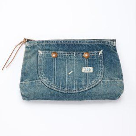 【Lee】OVERALL POUCH(Mediumcolor Blue)/オーバーオール ポーチ(中色ブルー)