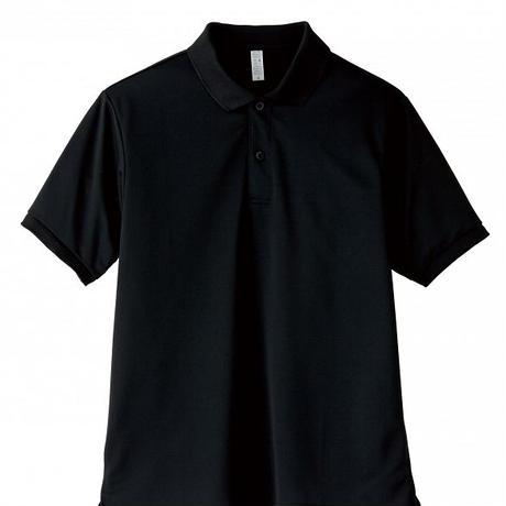 【Natural Smile】UNISEX POLO SHIRT(Black)/ポロシャツ ユニセックス(ブラック)