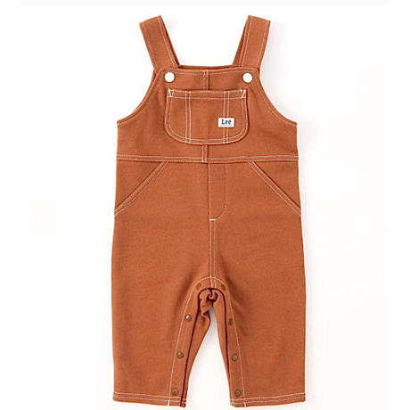 【Lee Baby】OVERALL(BROWN)/オーバーオールロンパース(ブラウン)70〜100size