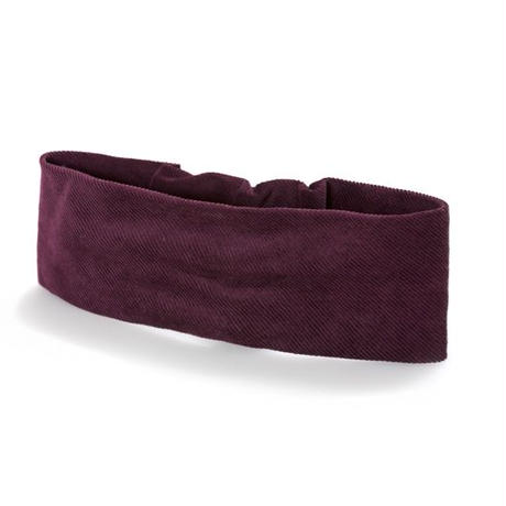 【Mr.PINK】3WAY CORDUROY HAIRBAND/BURGUNDY コーデュロイヘアバンド