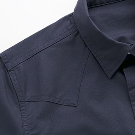 【Lee】WESTERN SHIRTS(White)/ユニセックス七分袖シャツ(ホワイト)