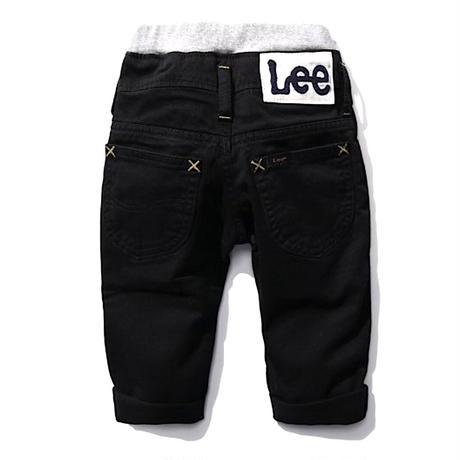 【Lee Baby】 RIB STRETCH TAPERED(BLACK)/ベーシックリブストレッチテーパード(ブラック)80〜100size