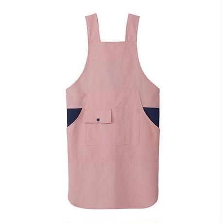 【Natural Smile】H TYPE APRON(Pink×Navy)/H型胸当てエプロン(ピンク×ネイビー)