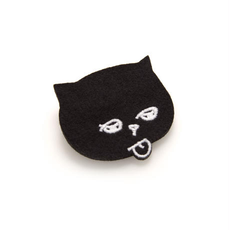 【Mr.PINK】CAT BATCH/ BLACK 猫バッチ