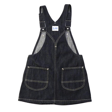 【Lee Kids】OVERALL SKIRT(RINSE)/ オーバーオールスカート(インディゴブルー)/130〜160size