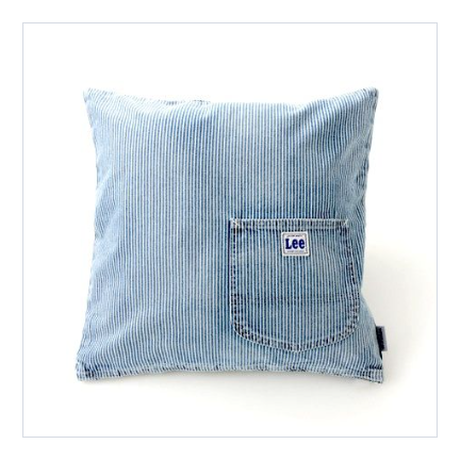【ForWORKERS×Lee】 CUSHION COVER/HICKORY  クッションカバー/ヒッコリー