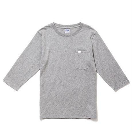 【Lee】T- SHIRTS(Grey)/Tシャツ 七分袖(グレー)