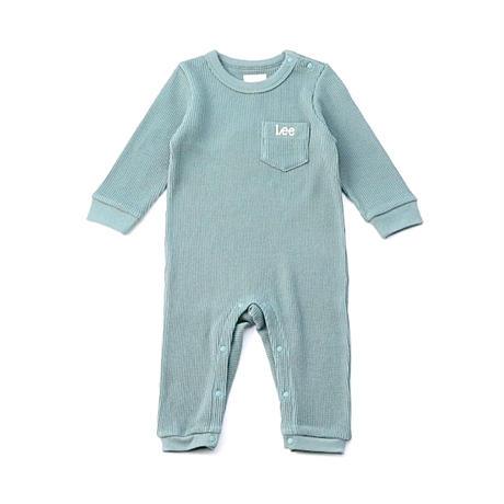 【Lee Baby】ROMPERS(MINT)/オーガニックコットンロンパース(ブルーグリーン)70〜80size