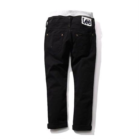 【Lee Kids】 RIB STRETCH TAPERED(BLACK)/ベーシックリブストレッチテーパード(ブラック)130〜160size