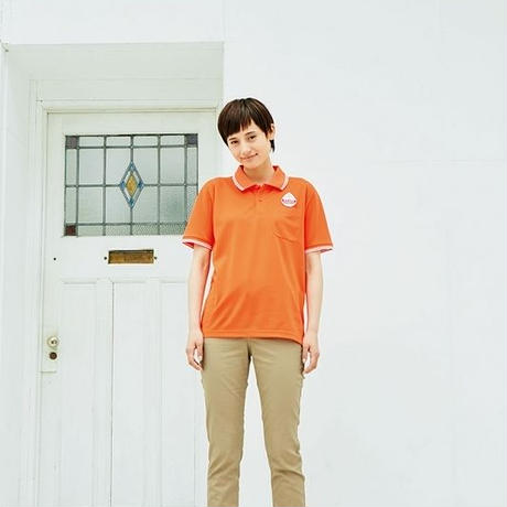 【Natural Smile】UNISEX POLO SHIRT(White)/ポロシャツ ユニセックス(ホワイト)