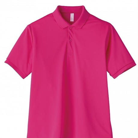 【Natural Smile】UNISEX POLO SHIRT(Shocking Pink)/ポロシャツ ユニセックス(ショッキングピンク)