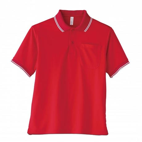 【Natural Smile】UNISEX POLO SHIRT(Red)/ポロシャツ ユニセックス(レッド)