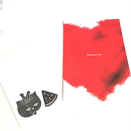 【Mr.PINK】CAT MESSAGE CARD(Red Hert)/ メッセージカード(レッドハート)
