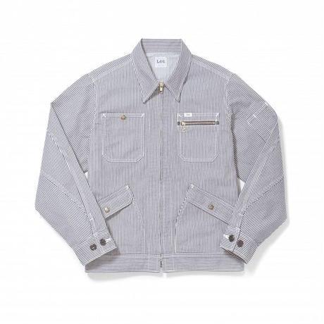 【Lee】MENS ZIP-UP JACKET(White×Blue)/メンズ ジップアップ ジャケット(ホワイト×ブルー)