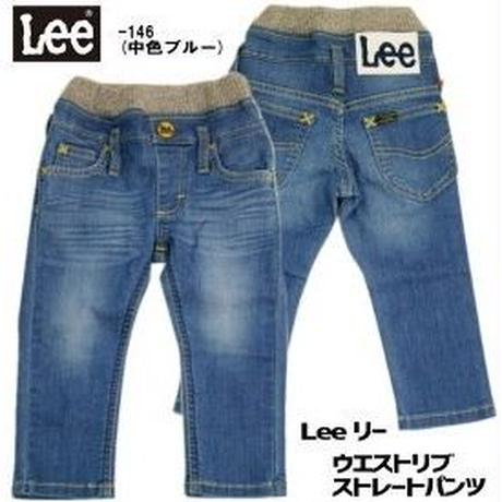 【Lee Kids】RIB STRAIGHT PANTS(Mid Used)/リブ ストレートパンツ(中色ブルー)