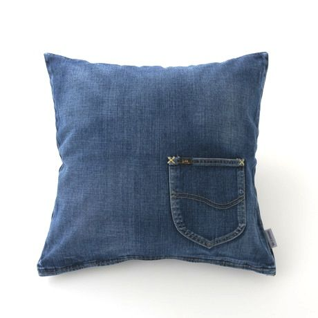 【ForWORKERS×Lee】 CUSHION COVER/DENIM  クッションカバー/デニム