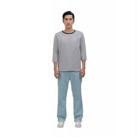 【Lee】T-SHIRTS(Navy×White)/Tシャツ 七分袖(ネイビー×ホワイト)