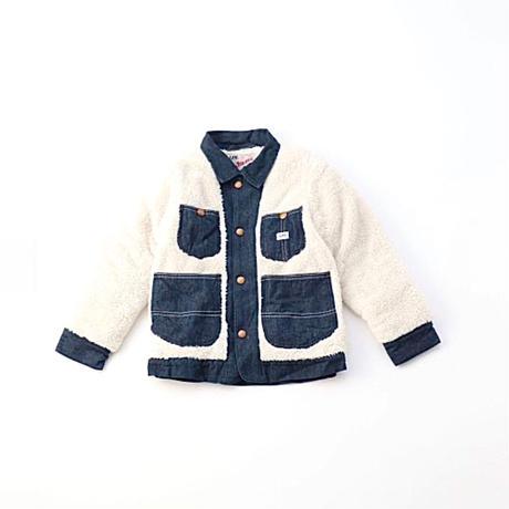 【Lee Kids】FLEEC LOCO JACKET(RINSE)/ フリースロコジャケット(インディゴブルー)/110〜160size