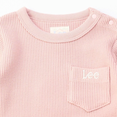 【Lee Baby】ROMPERS(PINK)/オーガニックコットンロンパース(ピンク)70〜80size