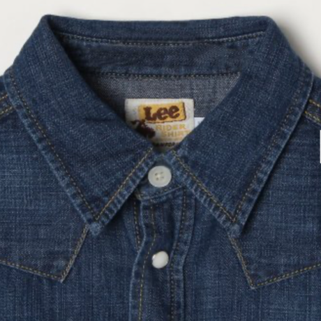 【Lee Kids】WESTERN SHIRTS(D.USED)/ウエスタンシャツ(濃色ブルー)100〜150size
