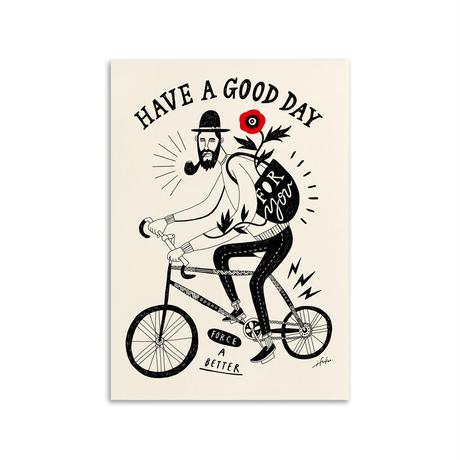 イフクカズヒコ / HAVE A GOOD DAY / A3 ポスター