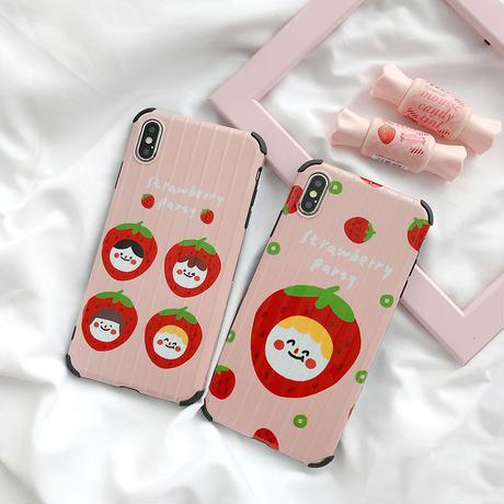 iPhone シェルカバー ケースStrawberry emoji #281   Foren