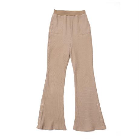 Waffle flare pants