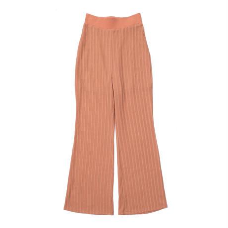 Cut lace flare pants