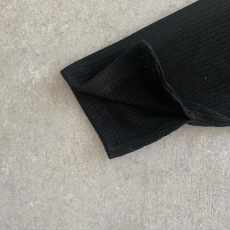 RIB Long sleeve one-piece