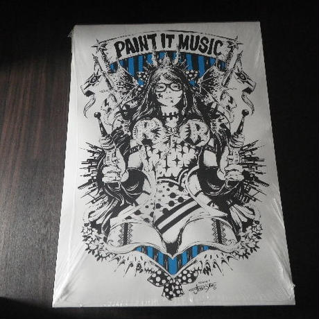 【A1ポスター】 jbsytleイラスト 『PAINT IT MUSIC』
