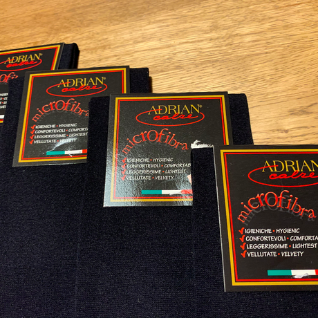 ■ ADRIAN/アドリアン/ロングホーズ/ソックス/NERO(黒)/平織り■