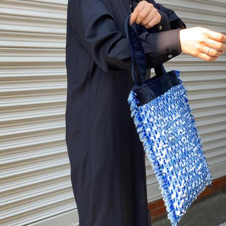 COPPIA × LINTON TWEEDS バッグ(GREEN+ラメ)※注文後1週間前後で発送