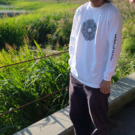 PEACE LONG SLEEVES  WHT/GRY