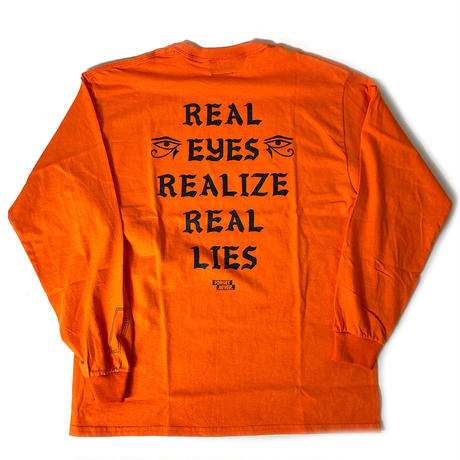REAL EYES - LONG SLEEVE TEE - ORANGE -