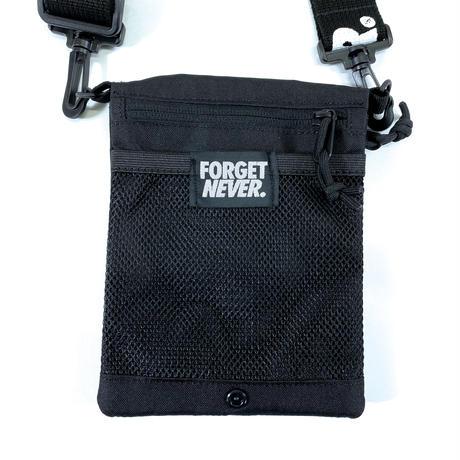 """""""FORGET NEVER """" 2WAY SHOULDER BAG (Black)"""