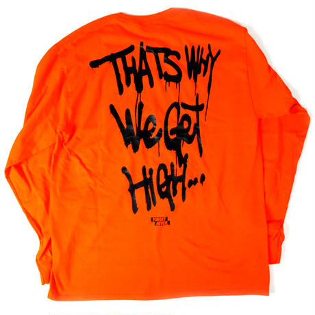 Life's a bxxch Long Sleeve Shirt  【Orange / Black】