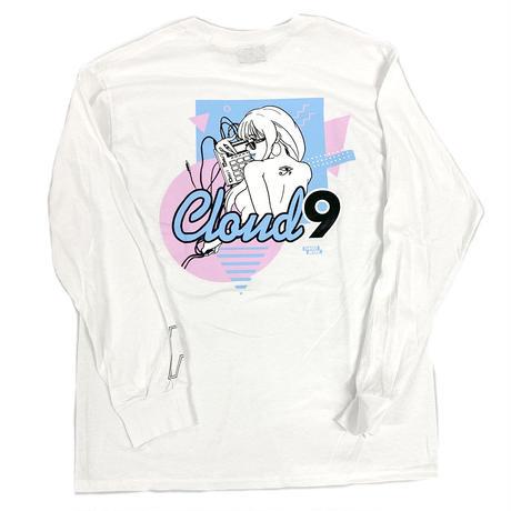 """""""CLOUD9"""" L/S TEE ( White )"""