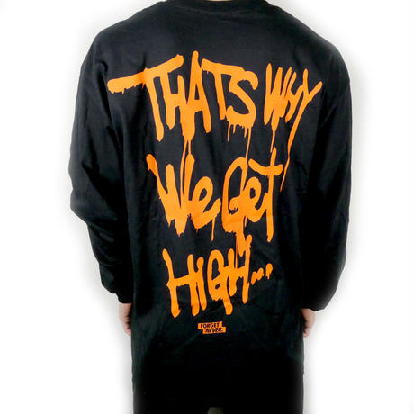 Life's a bxxch Long Sleeve Shirt  【Black / Orange】