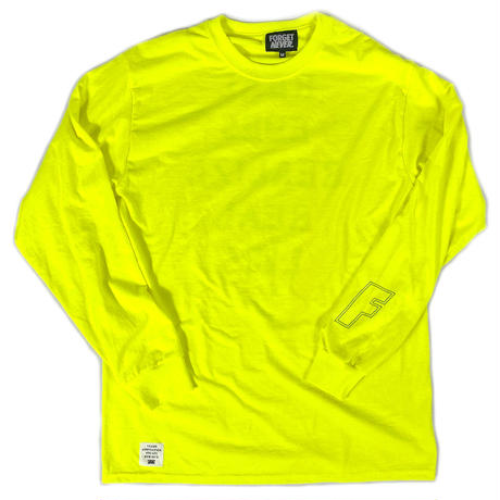 REAL EYES - LONG SLEEVE TEE ( NEON GREEN )