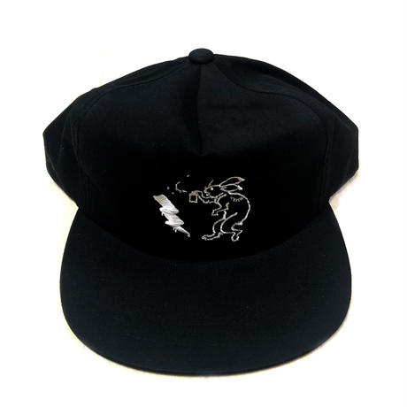 ANIMAL CYPHER - 5PANEL BALL CAP 【BLACK/WHITE】