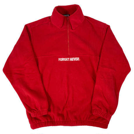 """SIMPLE LOGO"" HALFZIP FLEECE (Red)"