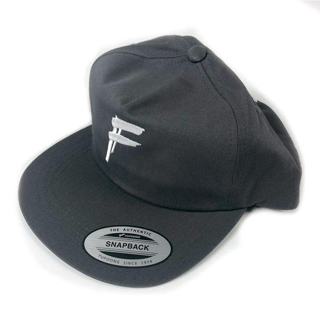 "HANDSTYLE ""F"" LOGO -SNAPBACK CAP ( Chacoal )"