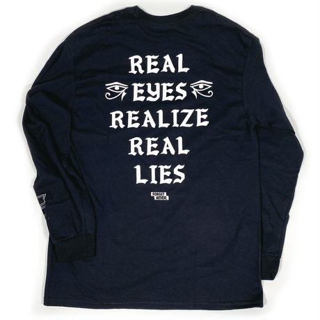 REAL EYES - LONG SLEEVE TEE - BLACK